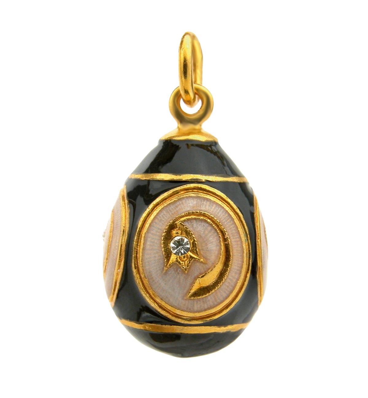 : - Fabergéägg-svart med guld