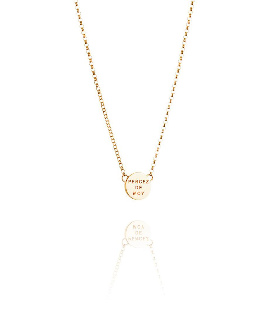 : - Mini Pencez Necklace guld