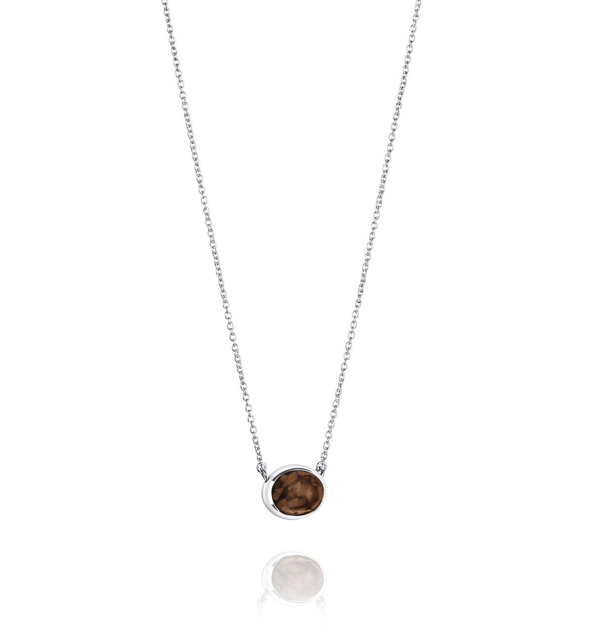 Efva Attling Love Bead Grande Necklace Smokey Quartz
