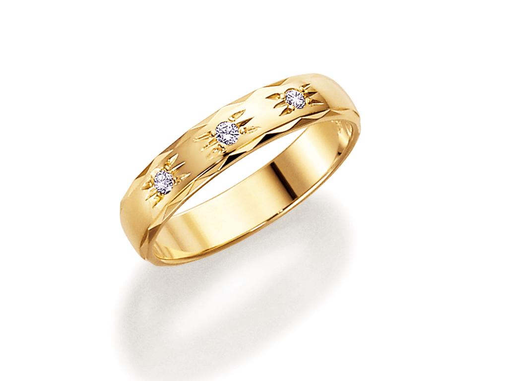 : - Vigselring 18k guld Allians 062.3