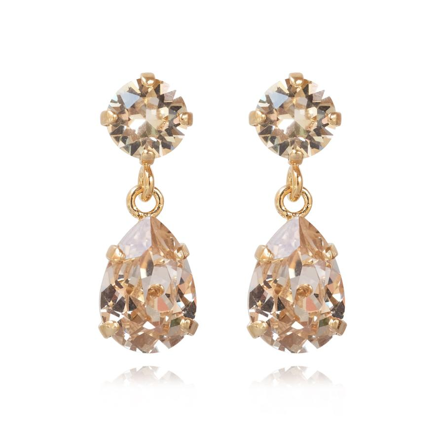 : - Mini Drop Earring Gold Silk