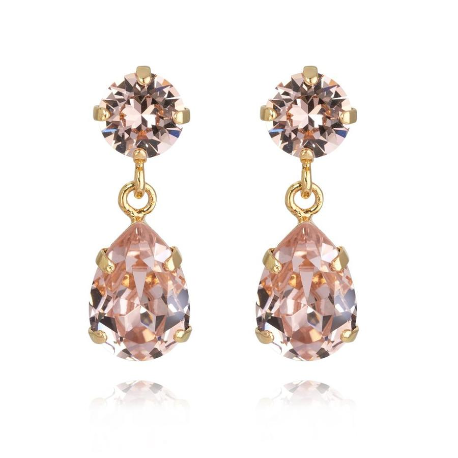 : - Mini Drop Earring Gold Vintage Rose