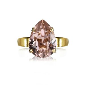 Caroline Svedbom Mini Drop Ring Gold Vintage Rose