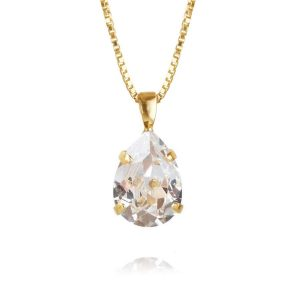 Caroline Svedbom Mini Drop Necklace Gold Crystal