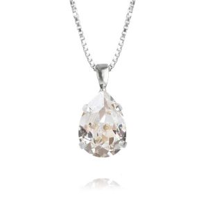 Caroline Svedbom Mini Drop Necklace Rhodium Crystal