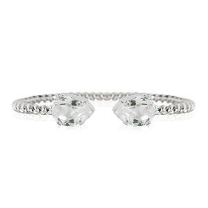 Caroline Svedbom Mini Drop Bracelet Rhodium Crystal