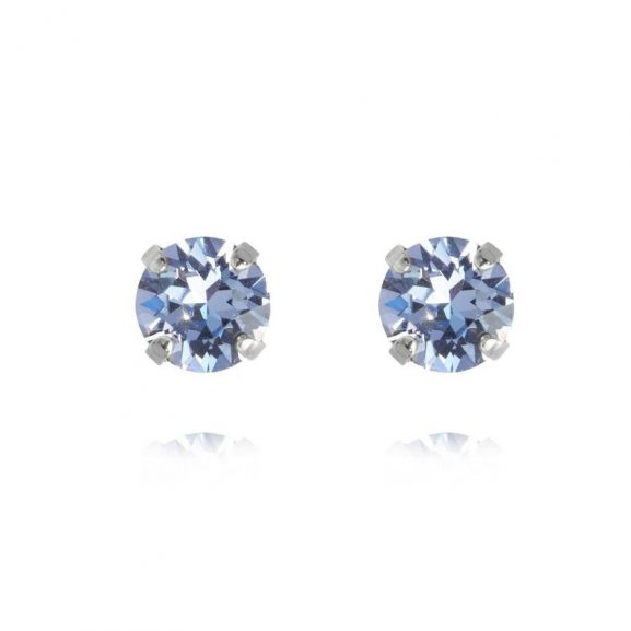 Caroline Svedbom Classic Stud Earring Rhodium Light Sapphire