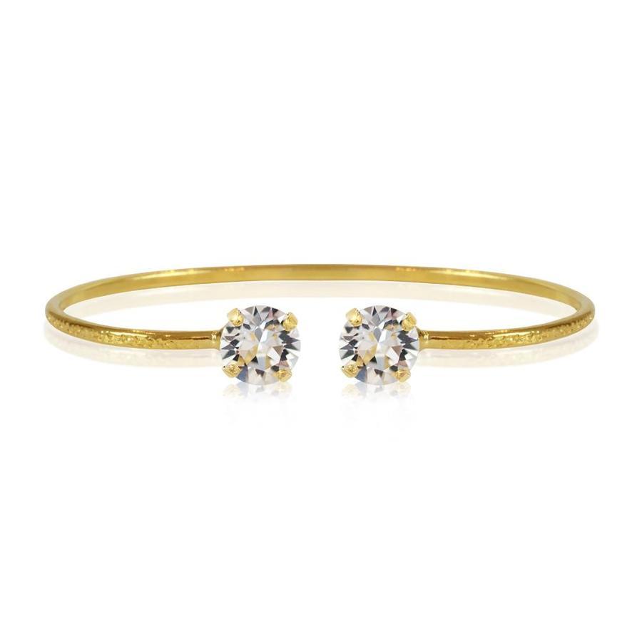 : - Classic Petite Bracelet Gold Crystal