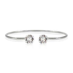 Caroline Svedbom Classic Petite Bracelet Rhodium Crystal