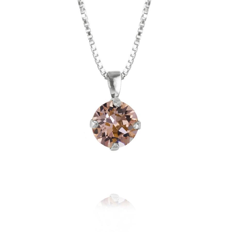 : - Classic Petite Necklace Rhodium Vintage Rose