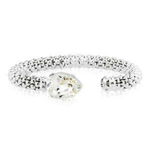 Caroline Svedbom Classic Rope Bracelet Rhodium Crystal