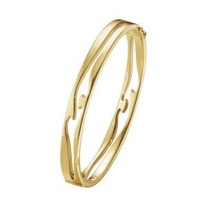 Georg Jensen Armband Fusion Öppen Armring 18K Gult Guld  - Jewelrybox.se