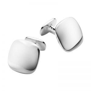 Georg Jensen Manschettknappar Men's Classic Square Cufflink Silver - Jewelrybox.se