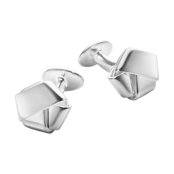 Georg Jensen Manschettknappar Men's Classic Fold Cufflink Silver - Jewelrybox.se