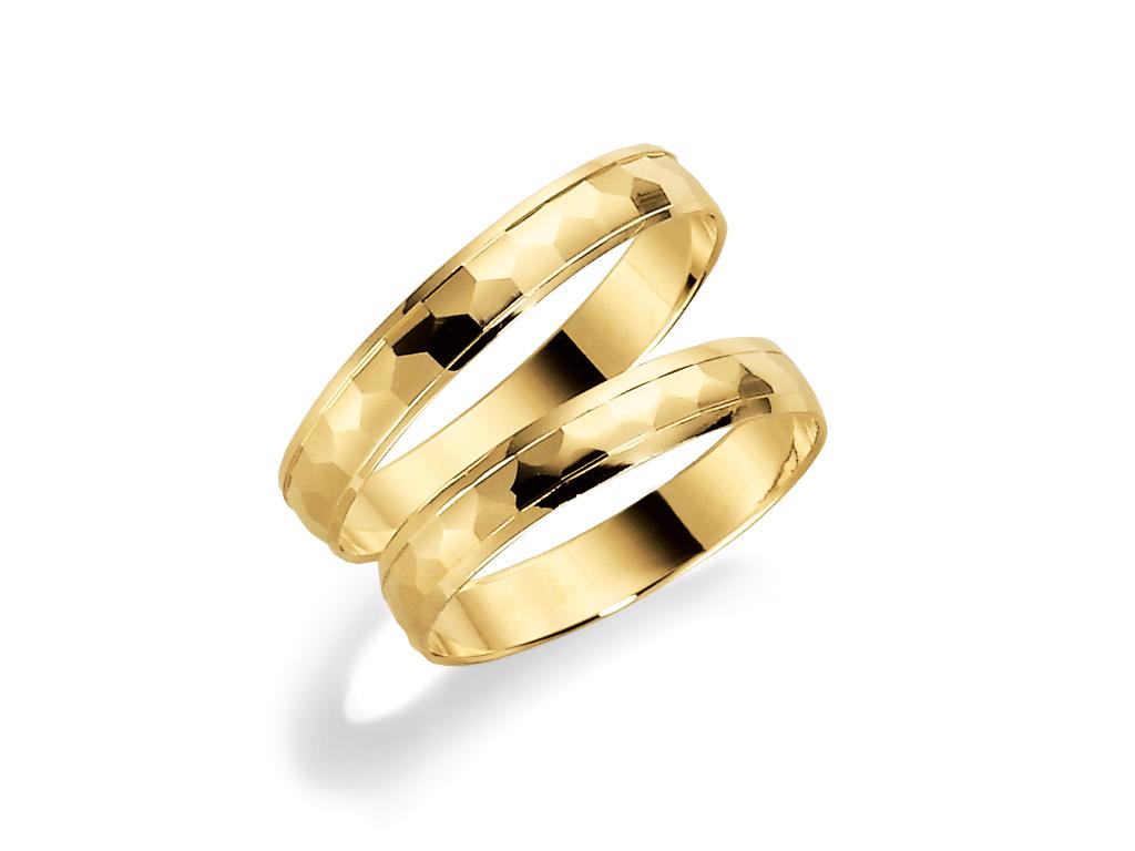 : - Förlovningsring 18k guld Tusenserien 1003-3,5