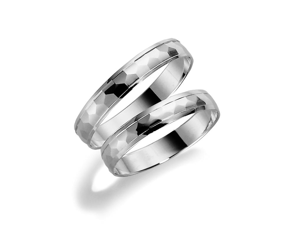 : - Förlovningsring 18k vitguld Tusenserien 1003-3,5