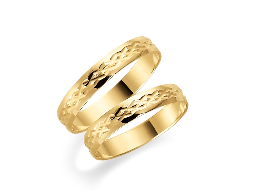 Förlovningsring 18k guld Tusenserien 1004-3,5