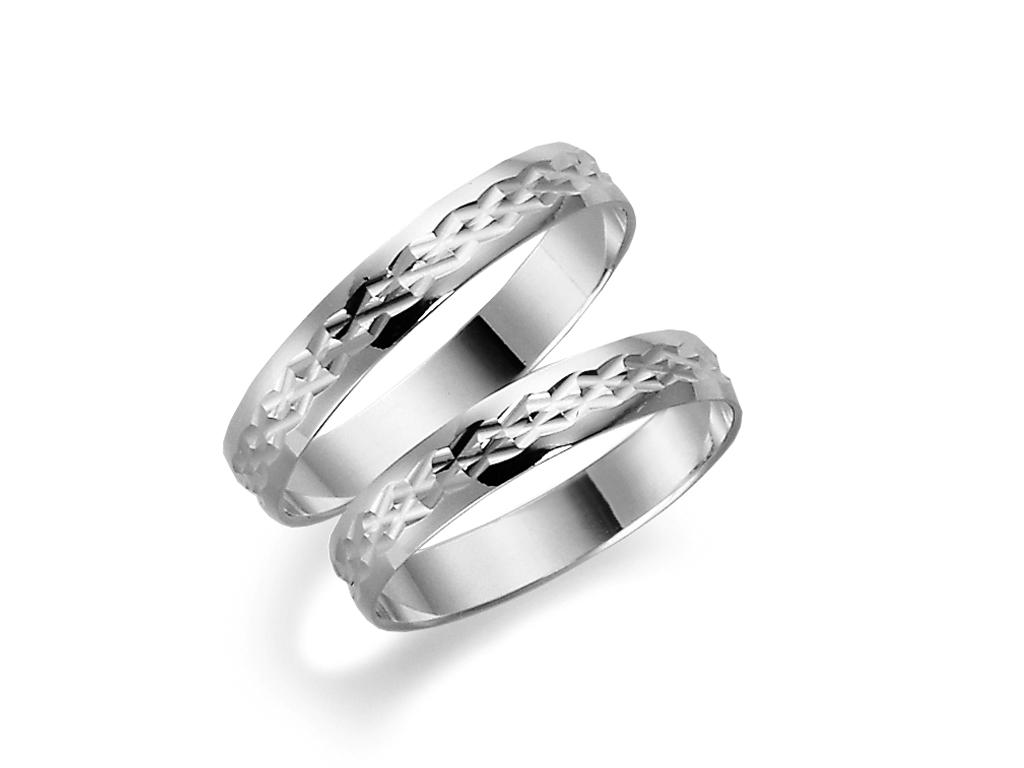 Förlovningsring 18k vitguld Tusenserien 1004-3,5