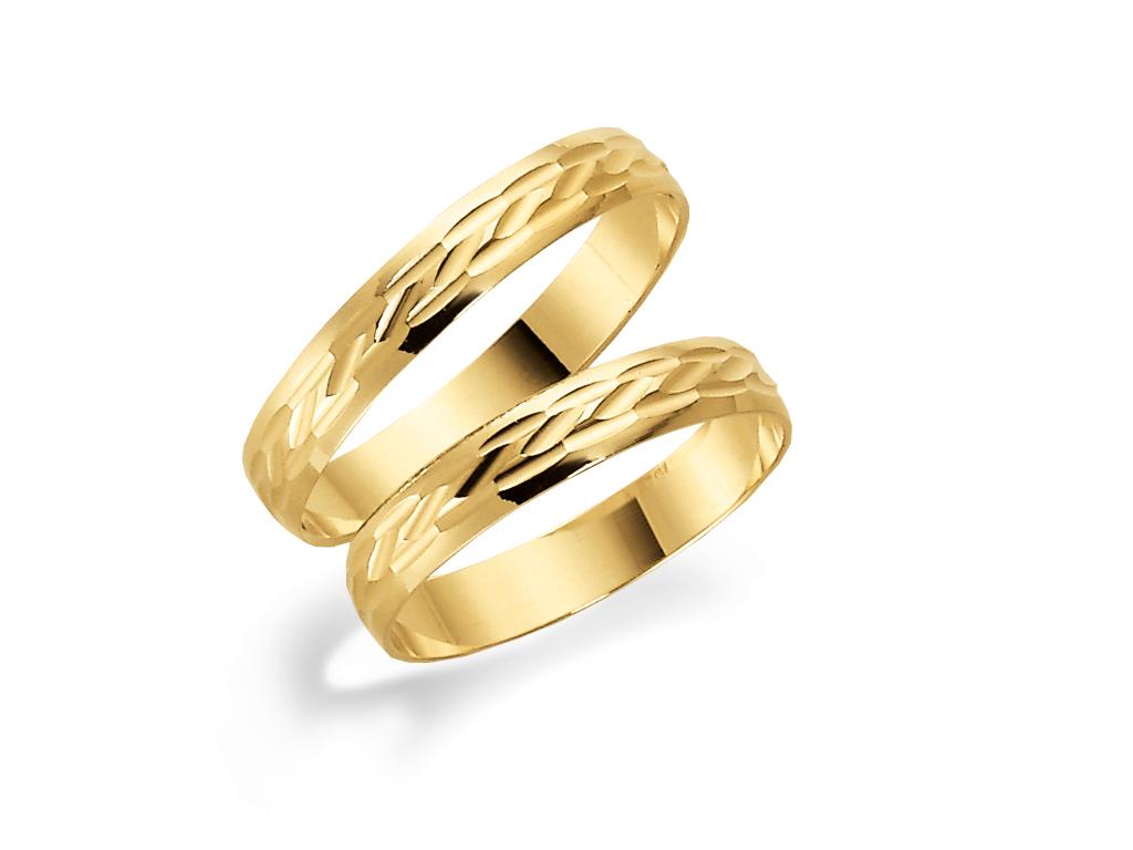 Förlovningsring 18k guld Tusenserien 1005-3,5