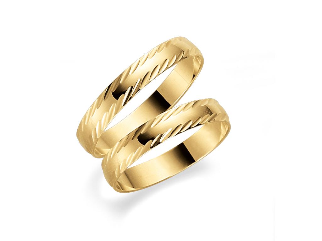 Förlovningsring 18k guld Tusenserien 1008-3,5