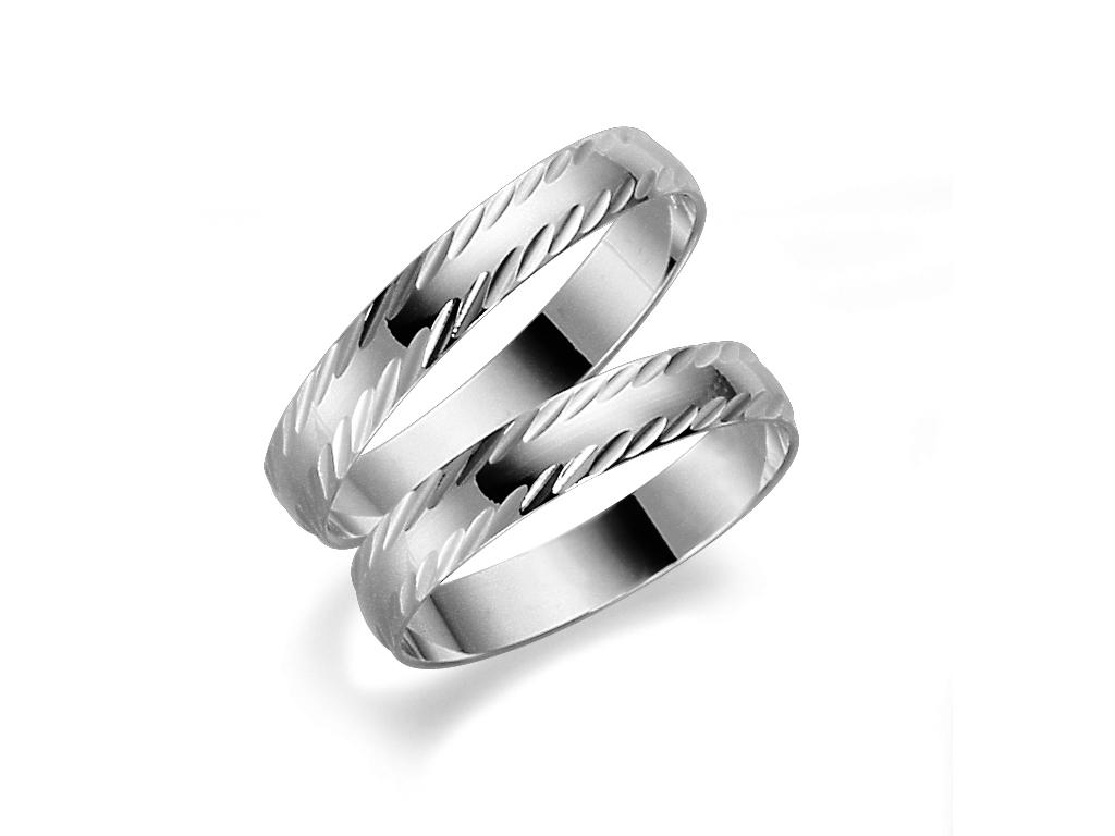 Förlovningsring 18k vitguld Tusenserien 1008-3,5