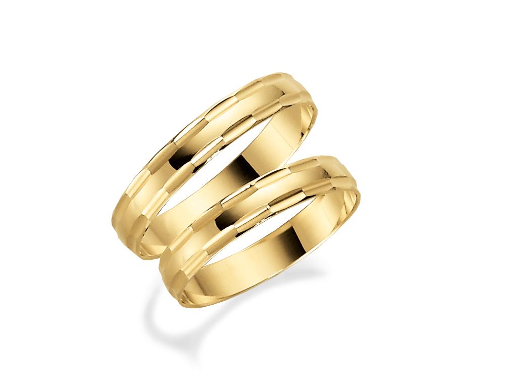 Förlovningsring 18k guld Tusenserien 1010-3,5