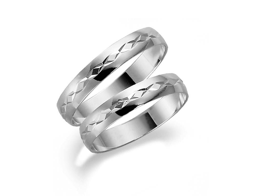 : - Förlovningsring 18k vitguld Tusenserien 1011-3,5