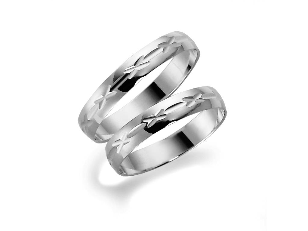: - Förlovningsring 18k vitguld Tusenserien 1014-3,5