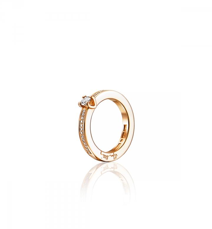 Efva Attling Heart To Heart Ring Guld 0,19 ct Diamant