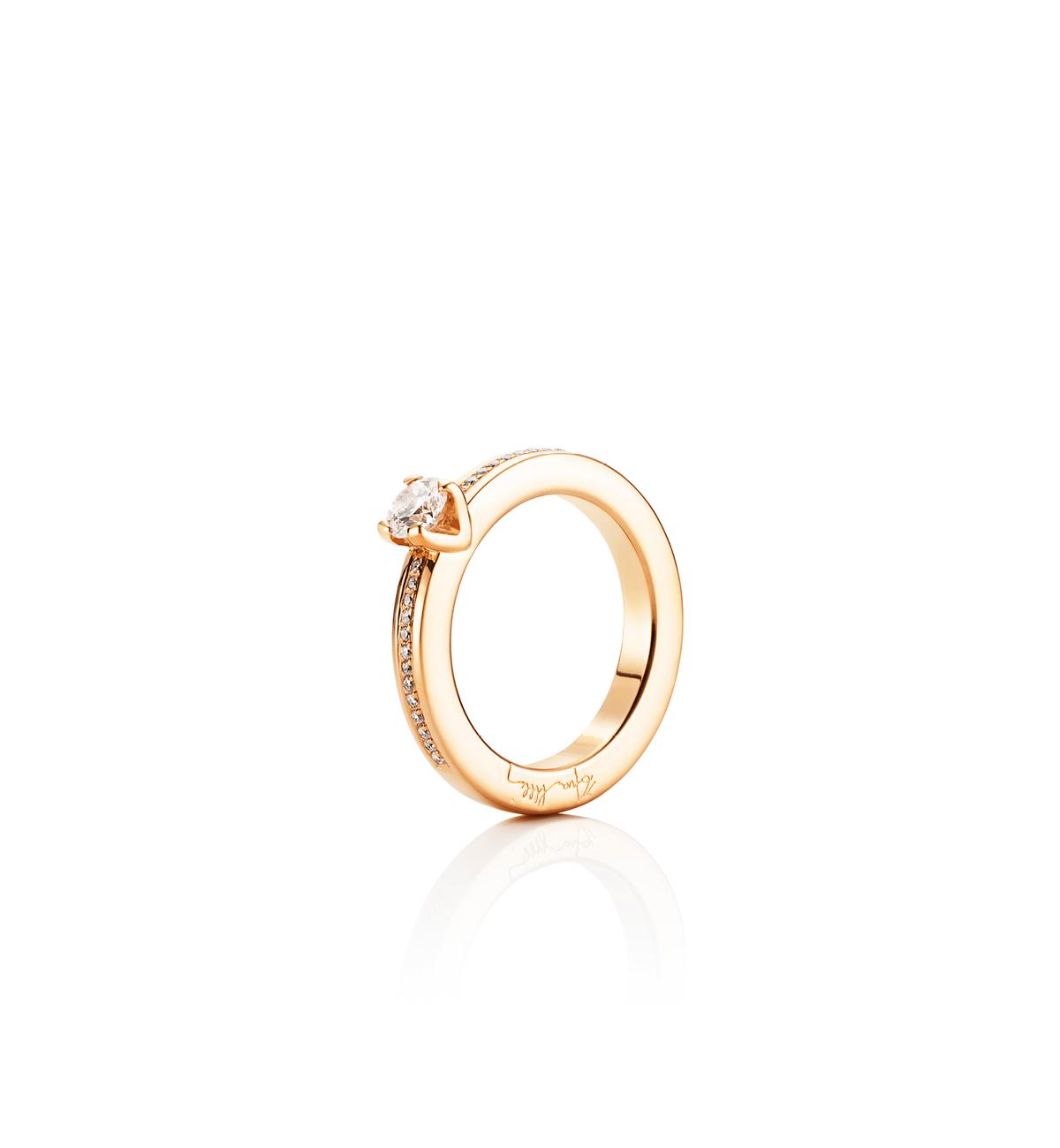 Efva Attling Heart To Heart Ring Guld 0,50 ct Diamant