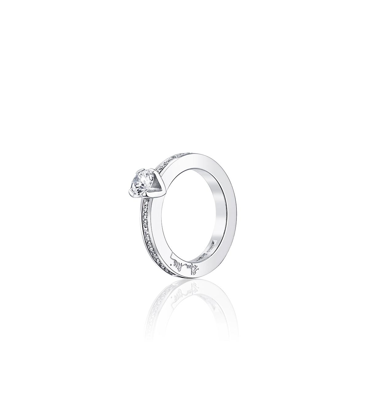 Efva Attling Heart To Heart Ring Vitguld 0,50 ct Diamant