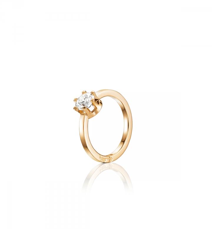 Efva Attling Crown Wedding Ring Guld 1,0 ct Diamant