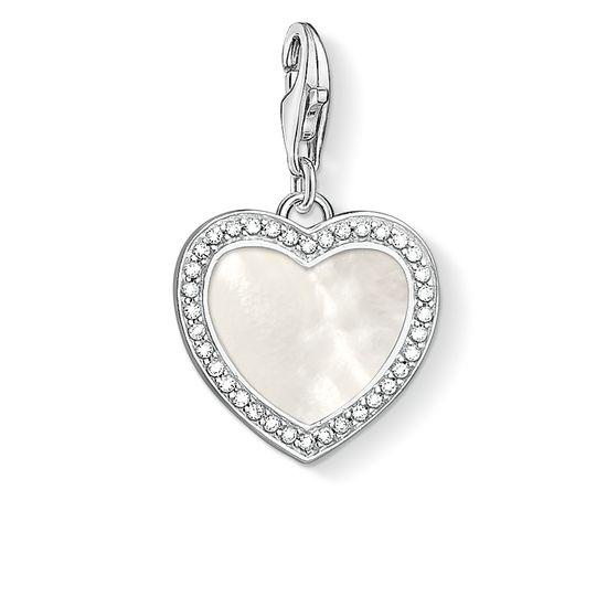 : - Berlock Glittrande Pärlemorhjärta