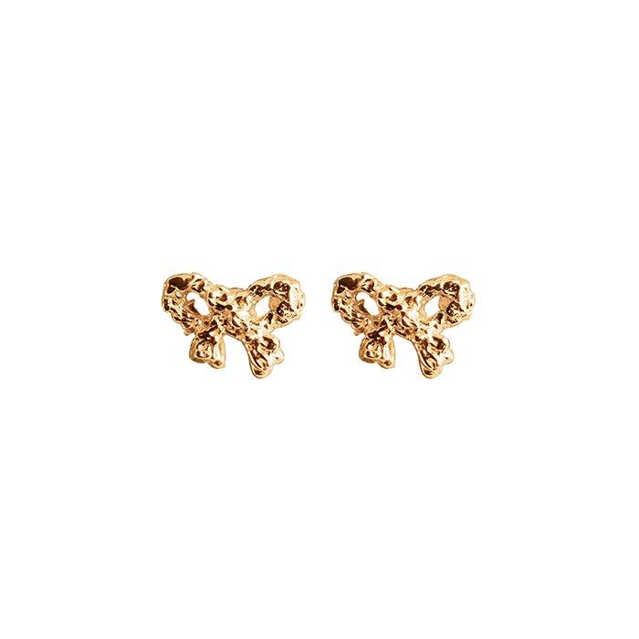 18K Bow Earrings