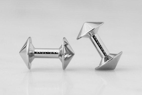 : - Icon Manschettknappar Modell X Stål
