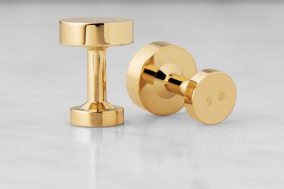 : - Icon Manschettknappar Modell 1 Guldpläterad Blank