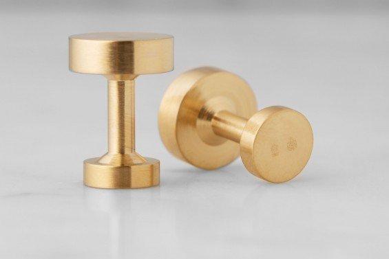 : - Icon Manschettknappar Modell 1 Guldpläterad Matt