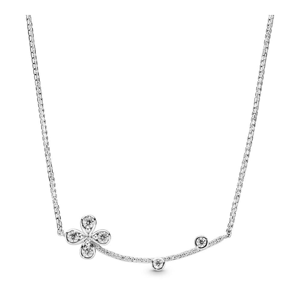 : - Four Petal Flower Halsband