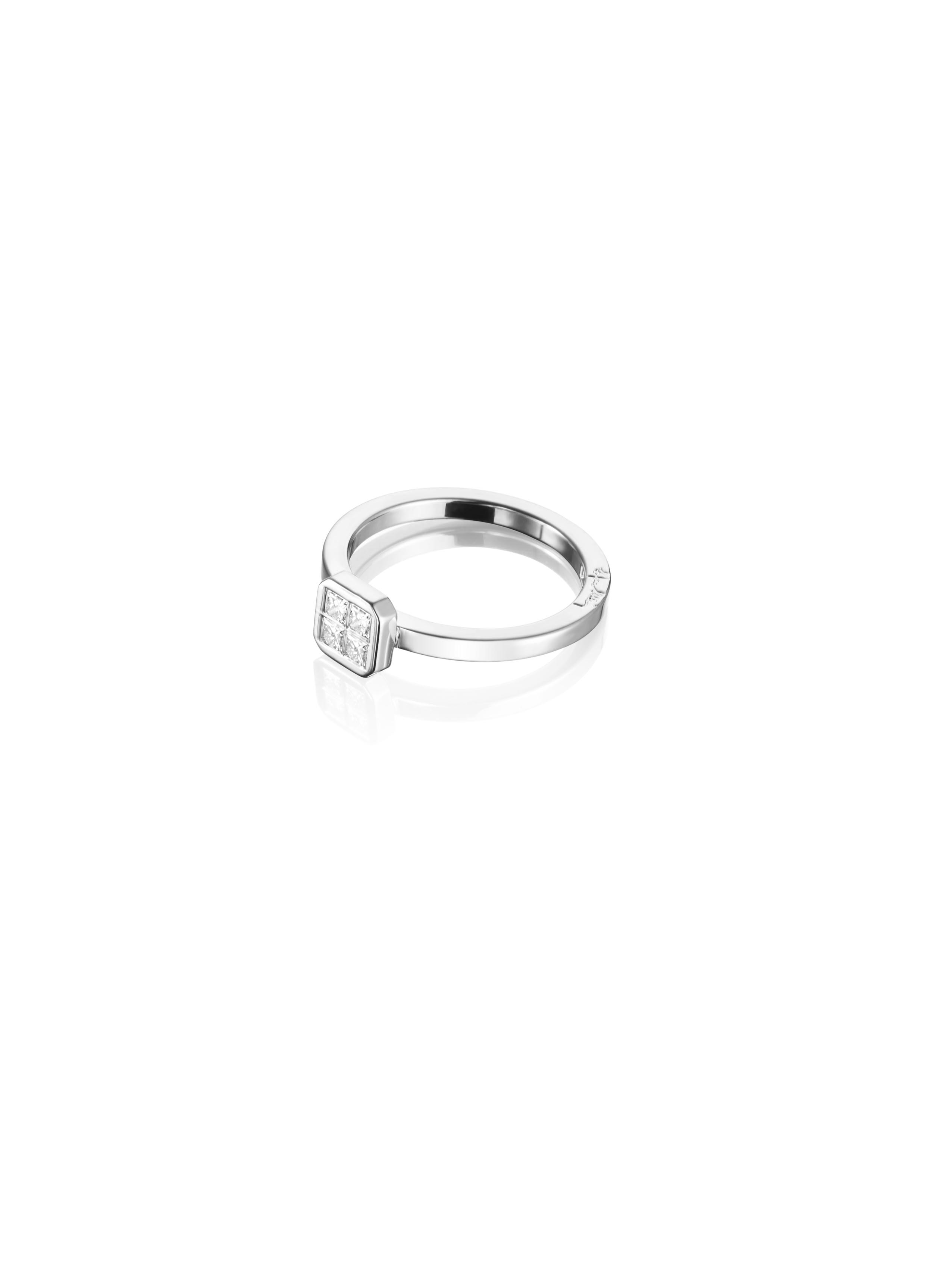 Efva Attling 4 Love Ring 0.20 ct White Gold