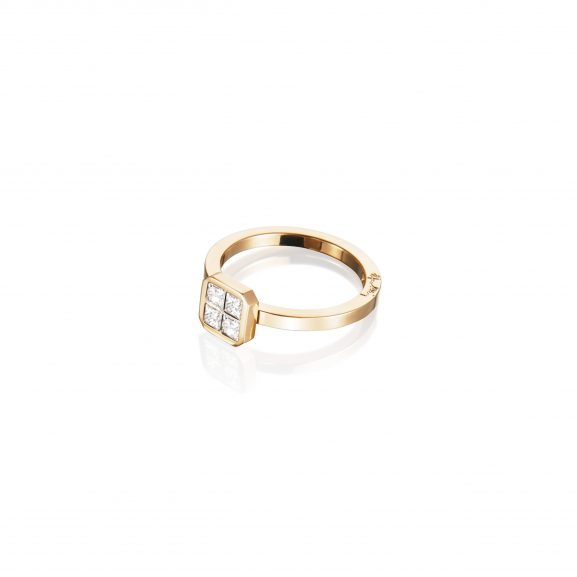Efva Attling 4 Love Ring 0.40 ct Gold