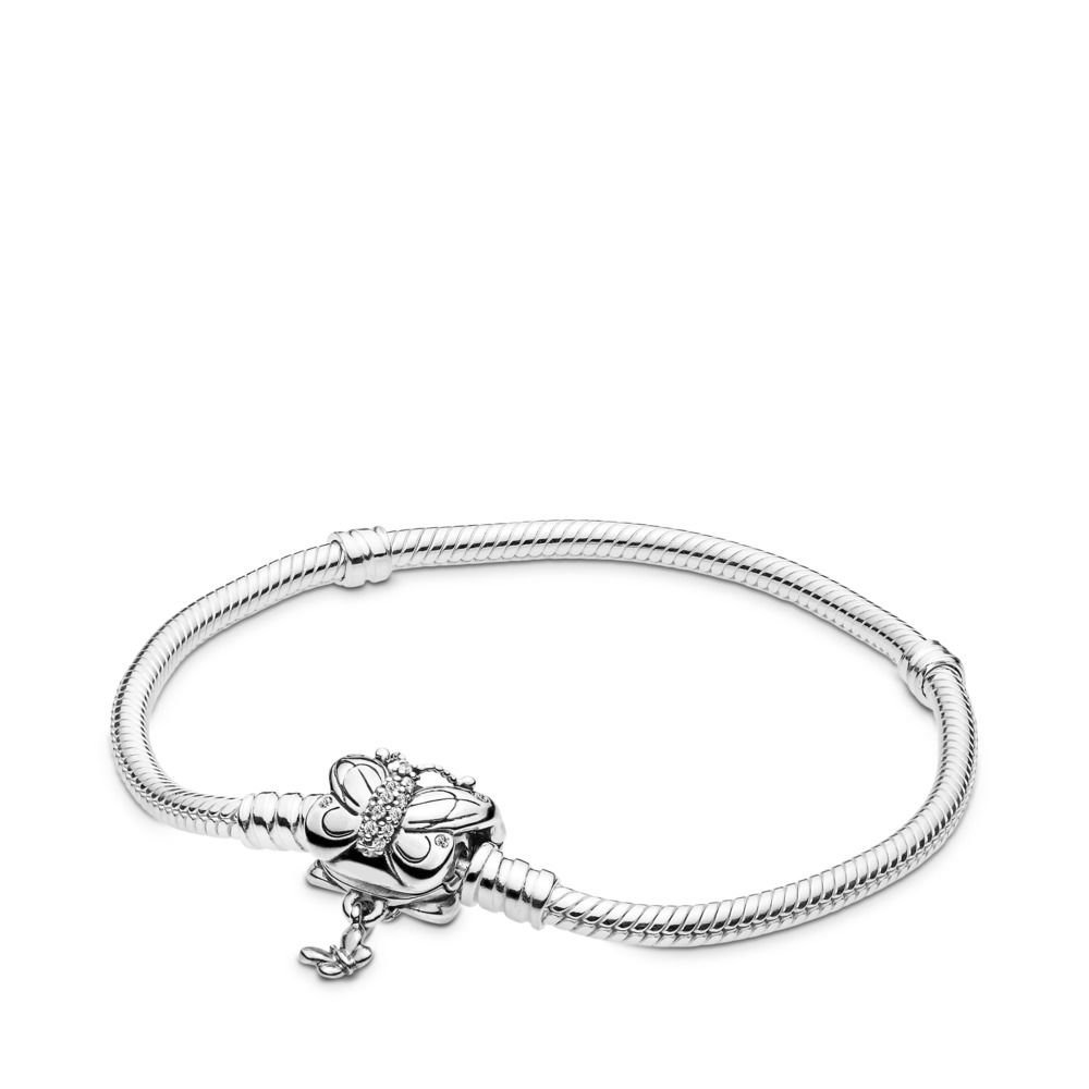 : - Pandora Armband Med Fjärilslås