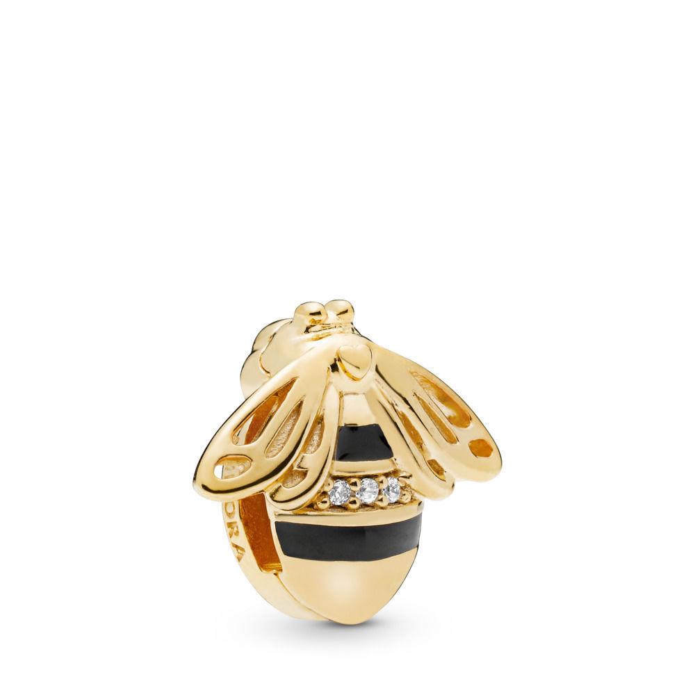 : - PANDORA Reflexions Queen Bee Shine Clip Berlock