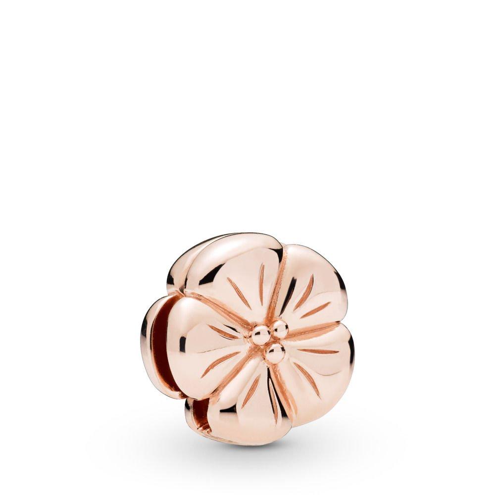 : - PANDORA Reflexions Classic Flower Rose Clip Berlock