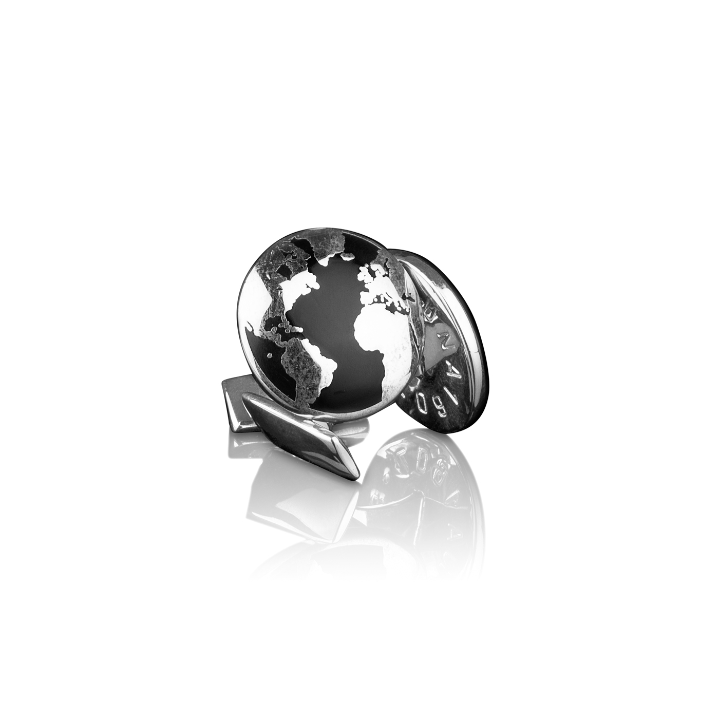: - Manschettknappar The World Silver/svart