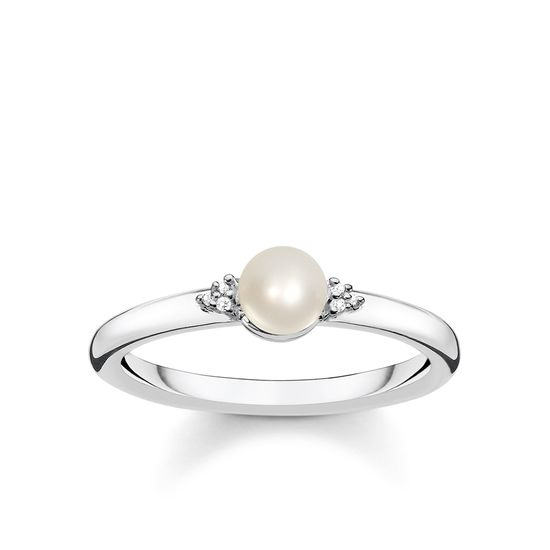 : - Romantisk Pärlring Silver