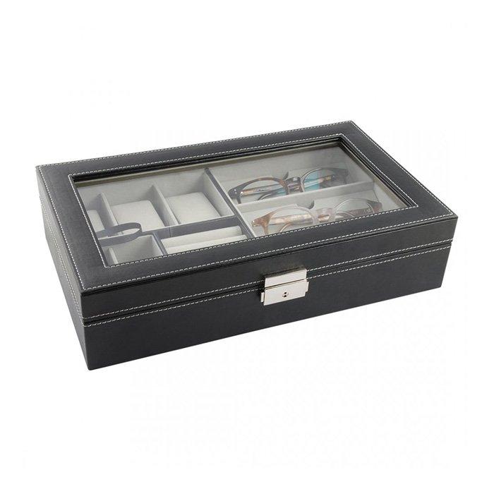 Dacapo Skrin för smycken, klockor & glasögon svart