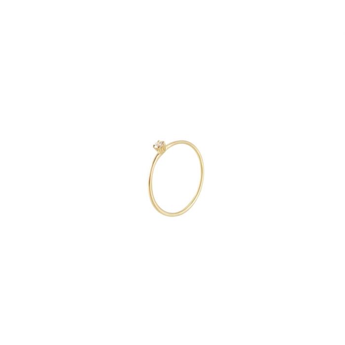 : - Diamond Sky drop ring gold