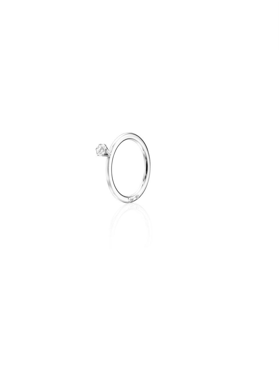 : - High On Love Ring 0.19 ct Vitguld