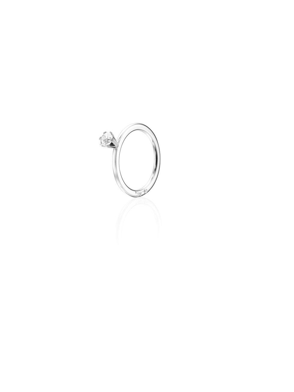 : - High On Love Ring 0.30 ct Vitguld