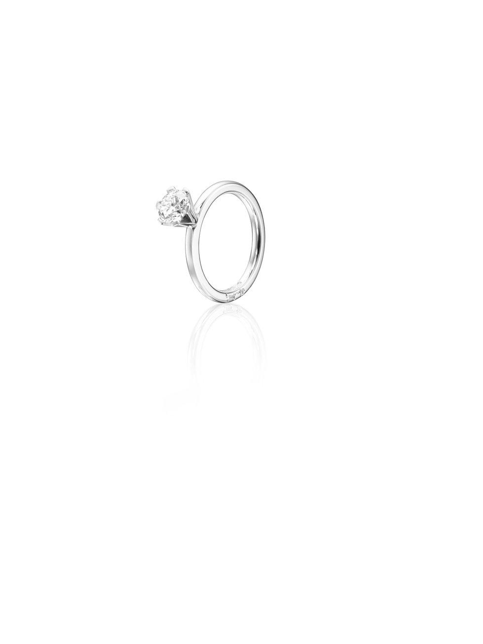 : - High On Love Ring 1.0 ct Vitguld